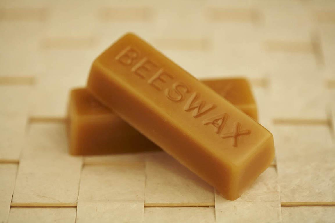 Natural pure beeswax blocks