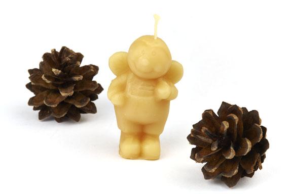 Small Handmade Bee Candles